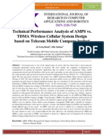 Technical Performance Analysis of AMPS vs. TDMA Wireless Cellular System Design based on Telecom Mobile Company budget