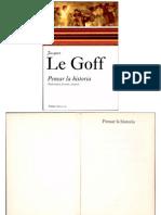 Pensar La Historia-  Jacques Le Goff