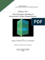 First Principle Ferroelectrics Ghosez Junquera