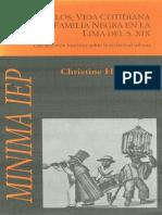 Lasmanuelos, Vida Cotidiana de Una Familia Negra en La Lima Del s. XIX