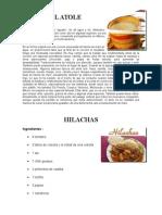 Comidas Tipicas de Guatemala Dulces Bebidas