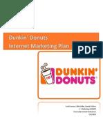 E-marketing plan for Dunkin' Donuts