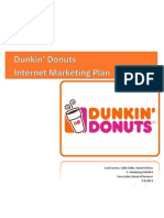 E-marketing plan for Dunkin' Donuts