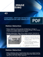 Chapter5 -Motion Detection, Segmentation and Wavelets