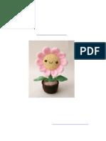 Flor Rosa Con Maceta