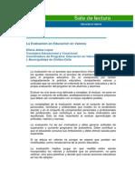 La Evaluación de La Educación en Valores, Aldea López