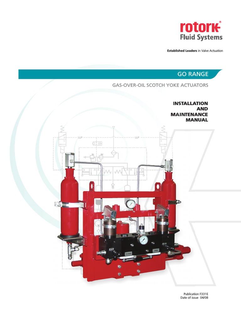 Rororck 0 Gas Over Oil Manual   Valve   Actuator