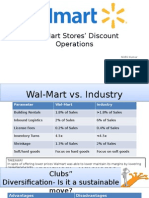 Wal-Mart Stores' Discount Operations