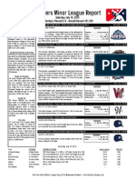Minor League Report 15.07.18