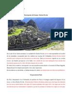 Angel Cañete. Descripcion Paisaje (Machu Picchu)