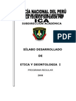 Silabo Etica y Deontologia i 2008