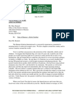 The Human Solution International, Letter to Marc Bennett, Sedgwick County D.A., re