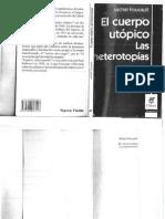Foucault Michel - El Cuerpo Utopico - Las Heterotopias