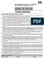 Prova Técnico Bancário Banestes 2015