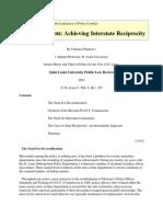 De-Certification - Achieving Interstate Reciprocity