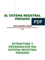 Estructura y Organizacion Del Sistema Registral Peruano