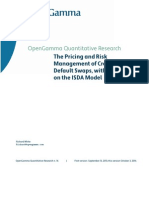Pricing and Risk Management Credit Default Swaps Opengamma