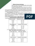 Método Evaluación Transección Al Paso