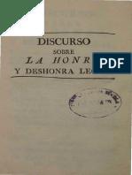 discurso Sobre La Honra Y La Deshonra Legal