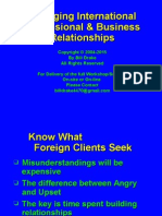 Managing International Professional & Business Relationships