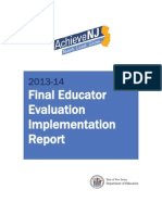 2013-14 Achieve Nj Implementation Report