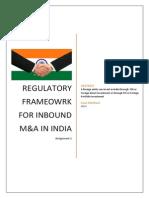 Regulatory Framework Inbound M&A_Arun Maithani_11A