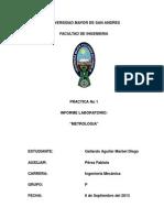 Física I - 1 Metrologia
