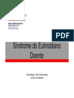Síndrome eutireoideo doente