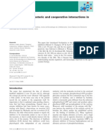 Allosteric and Cooperative Interactions in Enzymes