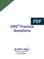 GRE exam Practice Questions