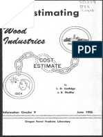 Cost Est Wood Industry