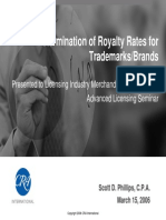 Determination of Royalty Rates for Trademarks and Brands