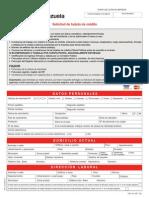 Formulario Tarjeta de Credito Banco de Venezuela