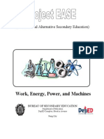 Work, Energy, Power, And Machines