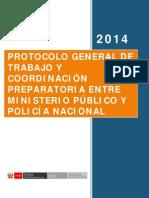 Protocolo General de Trabajo de Ministerio Publico y PNP