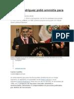 Duberlí Rodríguez Pidió Amnistía Para Terroristas