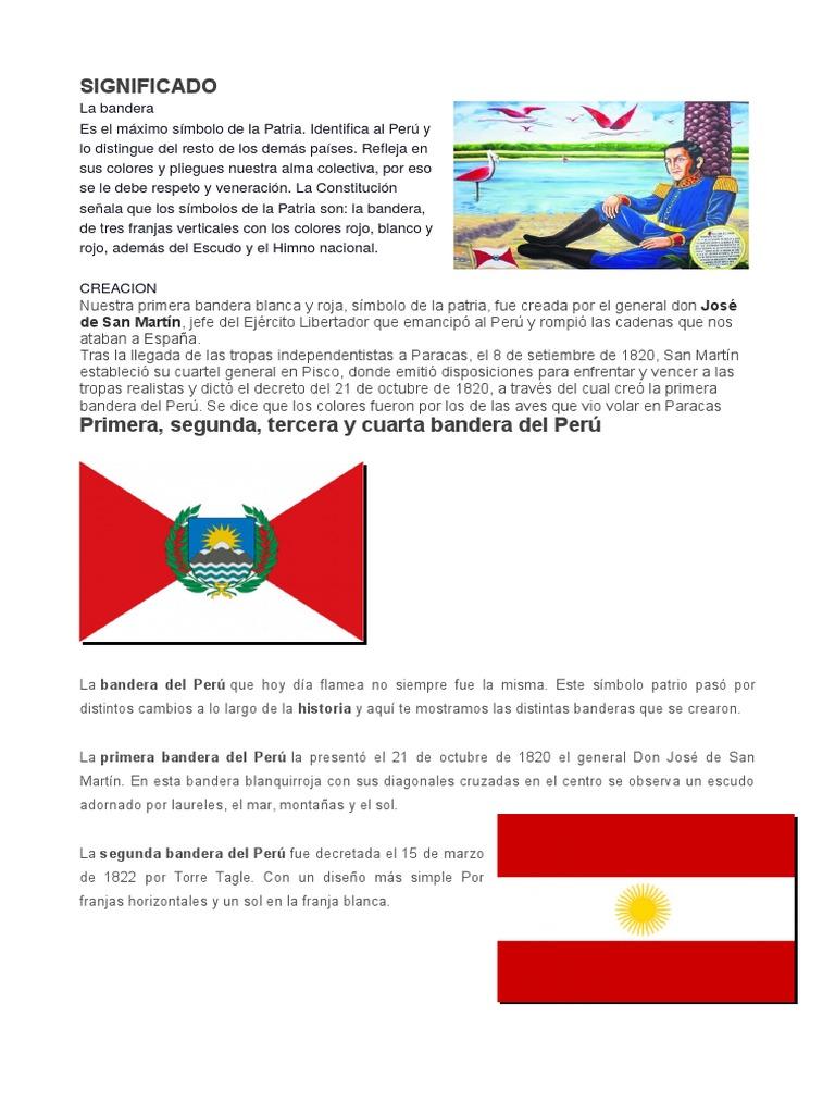 Significado de los colores de los simbolos patrios