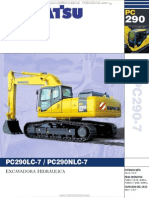 Catalogo Excavadoras Hidraulicas Pc290lc7 Nlc7 Komatsu