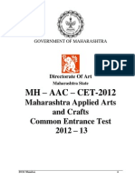 Mh Aac Cet 2012 Brochure