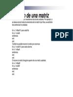 Recorrido Matrices Funciones