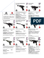 Equipment Cards - Weapons