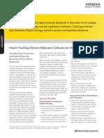 Hitachi Datasheet Truecopy Remote Replication Enterprise Storage
