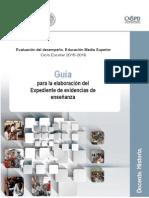 Guía académicas para elaborar el expediente de evidencias