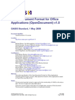 OpenDocument v1.0 Os