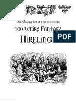 100 Weird Fantasy Hirelings