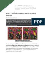 Rocío Rendón - Nota de Prensa