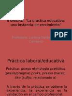 II Unidad Taller introducción práctica educativa