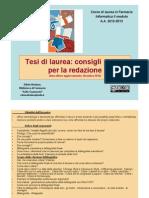 Consigli Pratici Redazione Tesi 11 Dicembre 2012