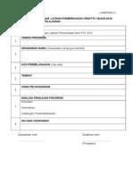 Format Laporan Latihan Pemeriksaan Item PT3 2015