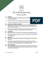 CS-16 Well Deviation Data (Aug 2005)